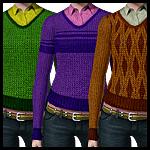Женский свитер с перекрасками