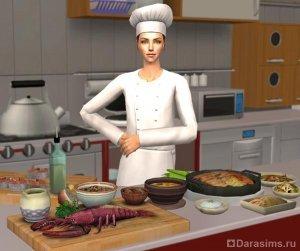 Повар на кухне в Симс 2