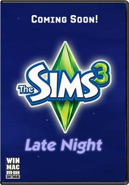 The Sims 3: Late Night - временная обложка