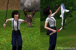 Рыболовство в The Sims 3