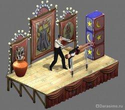 Сцена для фокусов в The Sims: Makin' Magic