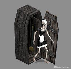 Скелет-горничная в The Sims: Makin' Magic