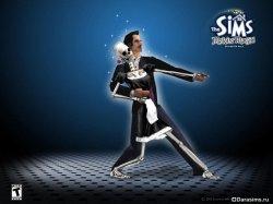 Мортимер Гот и скелет-горничная в The Sims: Makin' Magic
