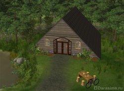 Дом в форме треугольника в Симс 2