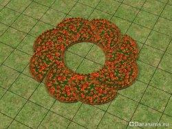 Необычные цветочные клумбы в Симс 2