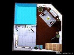 Подвал с окном на бассейн в Симс 3