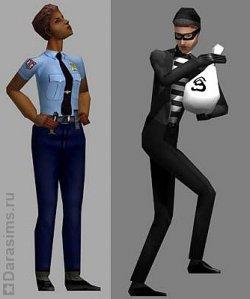 The Sims - NPC полицейский и вор