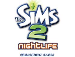 Логотип The Sims 2: Nightlife (Симс 2: Ночная жизнь)