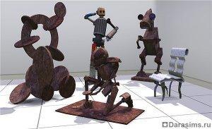 Скульптура в «Симс 3 Карьера»