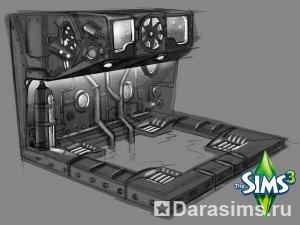 Футуристичное джакузи для «Sims 3 Store»