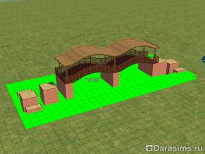 Строительство арочного моста в Симс 2