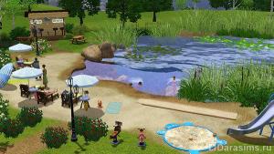 Озеро в Симс 3, в котором можно купаться