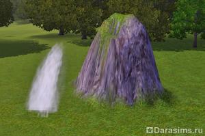 Украшение ландшафта: водопад в Симс 3