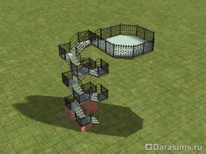 Строительство винтовой лестницы в Симс 2