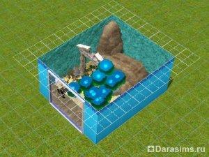 Аквариум с генератором тумана в Симс 3