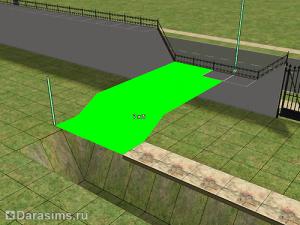 Изогнутый забор-стена в Симс 2