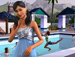 The Sims 3: у бассейна