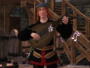 Герой Бард в Симс Средневековье