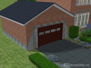 Строительство гаража в доме с фундаментом в Симс2