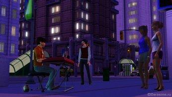 Музыкант в Симс 3 В сумерках
