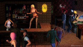 Ночной бар в Симс 3 В сумерках