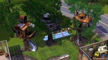 Домик на дереве в Симс 3 Все возрасты