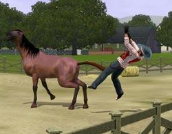 Опасные лошади в Симс 3 Питомцы