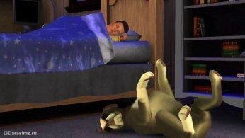 Все спят в Симс 3 Питомцы