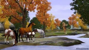 Дикие лошади в Симс 3 Питомцы