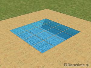 Вода под стеклянным полом в The Sims 2