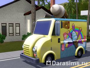 Фургончик с мороженым в «Симс 3 Питомцы»