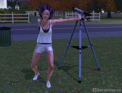 Новый способ смотреть в телескоп [The Sims 3]