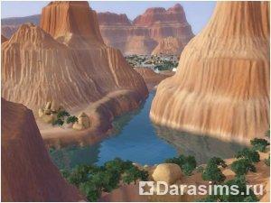 Новый город Лаки Палмс  в  «Симс 3»