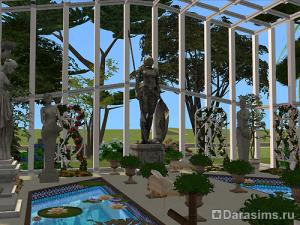 Прозрачный павильон в The Sims 2