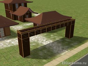 Строительство арки в восточном стиле в The Sims 2