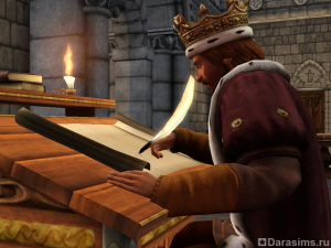 Герой Монарх в «Симс Средневековье»