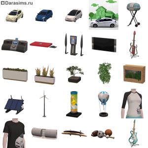 Новый бесплатный набор и «Toyota Prius с» в The Sims 3 Store