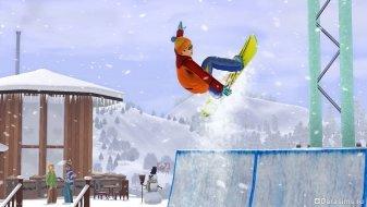 Зима и сноуборды в The Sims 3 Seasons
