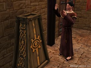 Герой Петерианский священник в «Симс Средневековье»