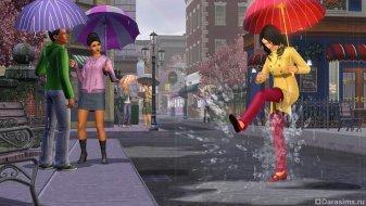 Дождь в «Симс 3 Времена года»