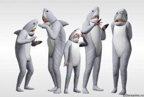 Костюм акулы в «Симс 3: Времена года» (подарки за предзаказ в Origin)