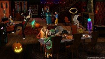 Костюмированная вечеринка в «Симс 3 Времена года»