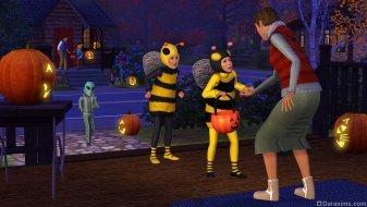 Хэллоуин в «Симс 3: Времена года» (подарки за предзаказ в Origin)