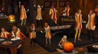 Костюмированная вечеринка в Страшный денек в «The Sims 3 Времена года»