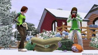 Отогревание замерзшего сима в «The Sims 3 Времена года»
