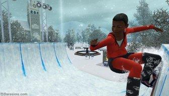 Хафпайп для сноубордов в «The Sims 3 Времена года»
