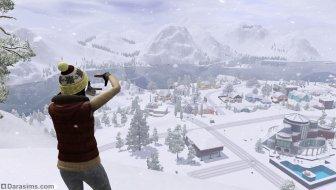 Зимний Хидден Спрингс в «The Sims 3 Времена года»