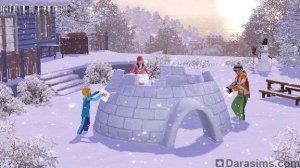 Зимняя сказка в «Симс 3 Времена года»