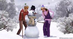 Снеговики в «Симс 3 Времена года»