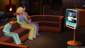 Гостиная в стиле 70-ых из «The Sims 3 Стильные 70-е, 80-е, 90-е»